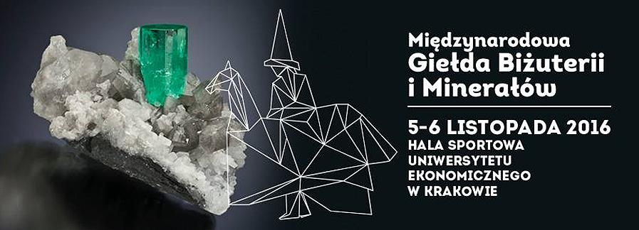 Międzynarodowa Giełda Biżuterii i Minerałów w Krakowie, 5-6 listopada.