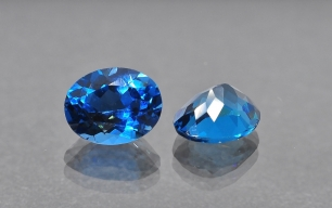 Topaz London Blue fasetowany ov 8x6mm